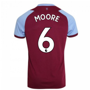 2020-2021 West Ham Home Football Shirt (MOORE 6)