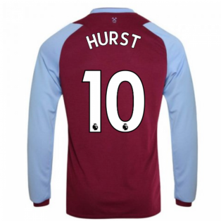 2020-2021 West Ham Long Sleeve Home Shirt (Kids) (HURST 10)