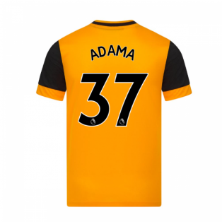 2020-2021 Wolves Home Football Shirt (ADAMA 37)