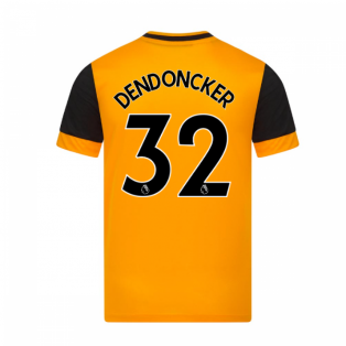 2020-2021 Wolves Home Football Shirt (DENDONCKER 32)