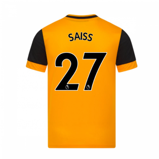2020-2021 Wolves Home Football Shirt (SAISS 27)