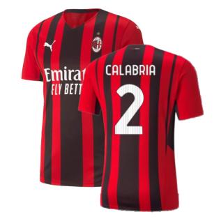 2021-2022 AC Milan Authentic Home Shirt (CALABRIA 2)