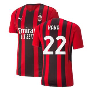 2021-2022 AC Milan Authentic Home Shirt (KAKA 22)