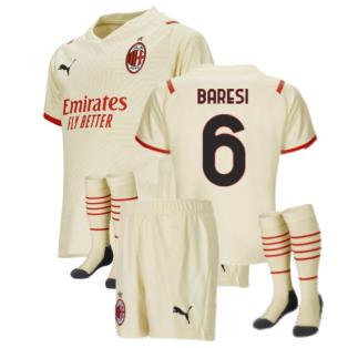 2021-2022 AC Milan Away Mini Kit (BARESI 6)