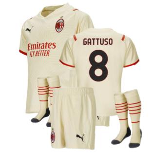 2021-2022 AC Milan Away Mini Kit (GATTUSO 8)