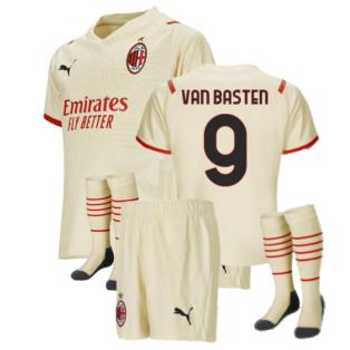 2021-2022 AC Milan Away Mini Kit (VAN BASTEN 9)