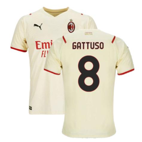 2021-2022 AC Milan Away Shirt (GATTUSO 8)