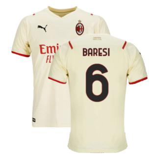 2021-2022 AC Milan Away Shirt (Kids) (BARESI 6)