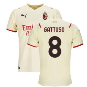 2021-2022 AC Milan Away Shirt (Kids) (GATTUSO 8)
