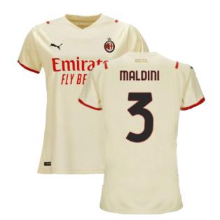 2021-2022 AC Milan Away Shirt (Ladies) (MALDINI 3)
