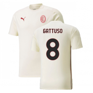 2021-2022 AC Milan Casuals Tee (Afterglow) (GATTUSO 8)