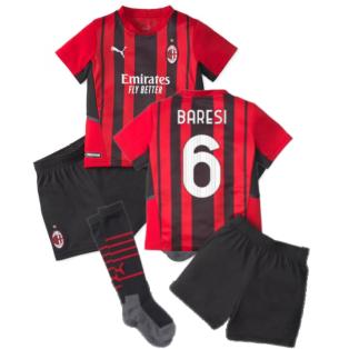 2021-2022 AC Milan Home Mini Kit (BARESI 6)