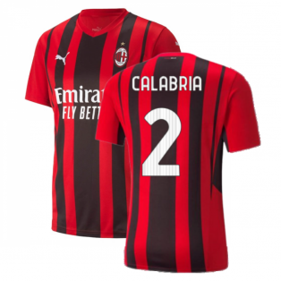 2021-2022 AC Milan Home Shirt (CALABRIA 2)
