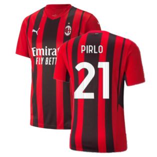 2021-2022 AC Milan Home Shirt (Kids) (PIRLO 21)