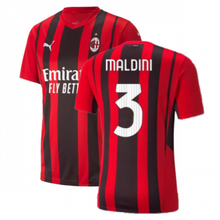 2021-2022 AC Milan Home Shirt (MALDINI 3)