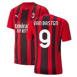 2021-2022 AC Milan Home Shirt (VAN BASTEN 9)