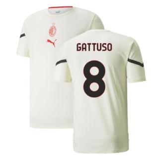2021-2022 AC Milan Pre-Match Jersey (Afterglow) (GATTUSO 8)