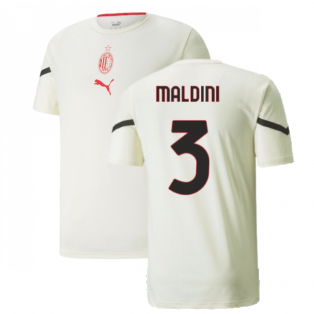 2021-2022 AC Milan Pre-Match Jersey (Afterglow) (MALDINI 3)