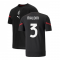 2021-2022 AC Milan Pre-Match Jersey (Black) (MALDINI 3)