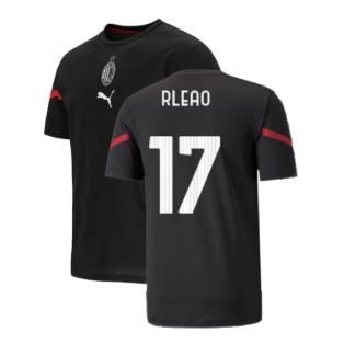 2021-2022 AC Milan Pre-Match Jersey (Black) (R LEAO 17)