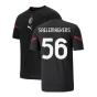 2021-2022 AC Milan Pre-Match Jersey (Black) (SAELEMAEKERS 56)