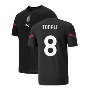 2021-2022 AC Milan Pre-Match Jersey (Black) (TONALI 8)