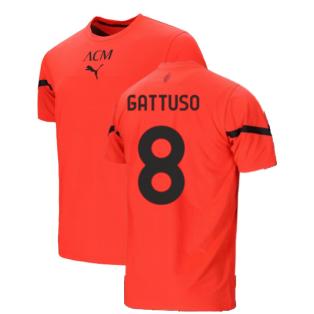 2021-2022 AC Milan Pre-Match Jersey (Red) (GATTUSO 8)