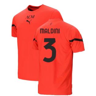 2021-2022 AC Milan Pre-Match Jersey (Red) (MALDINI 3)