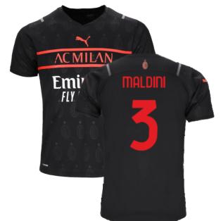 2021-2022 AC Milan Third Shirt (Kids) (MALDINI 3)