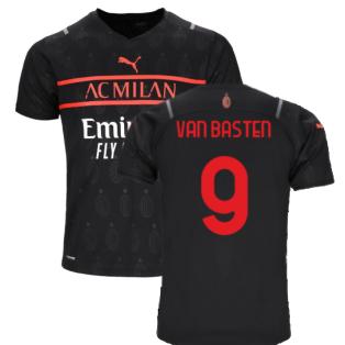 2021-2022 AC Milan Third Shirt (Kids) (VAN BASTEN 9)