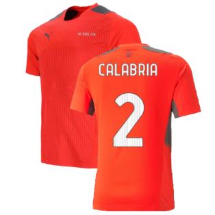 2021-2022 AC Milan Training Jersey (Red) (CALABRIA 2)