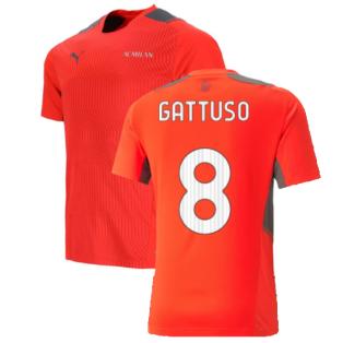 2021-2022 AC Milan Training Jersey (Red) (GATTUSO 8)