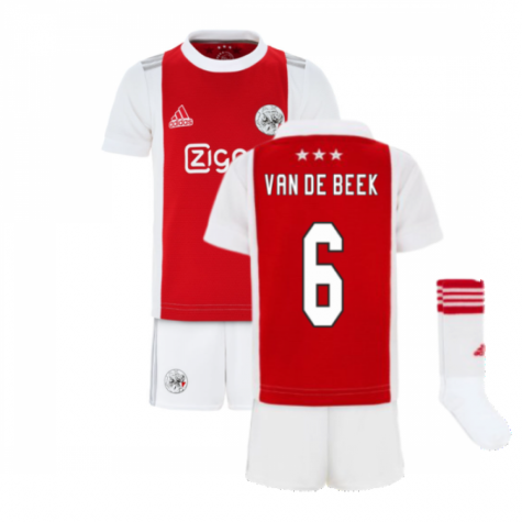 2021-2022 Ajax Home Mini Kit (VAN DE BEEK 6)
