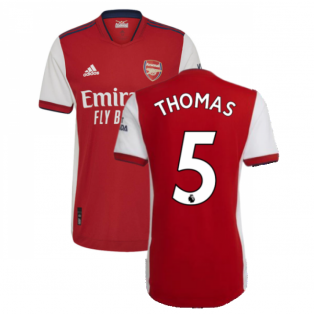 2021-2022 Arsenal Authentic Home Shirt (Thomas 5)