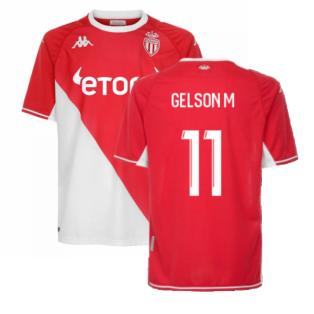 2021-2022 AS Monaco Home Shirt (GELSON M 11)