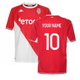 2021-2022 AS Monaco Home Shirt (Your Name)
