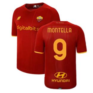 2021-2022 AS Roma Home Shirt (MONTELLA 9)