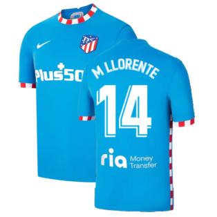 2021-2022 Atletico Madrid 3rd Shirt (M LLORENTE 14)