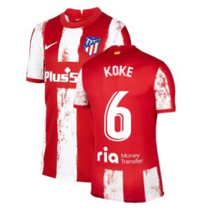2021-2022 Atletico Madrid Home Shirt (Kids) (KOKE 6)