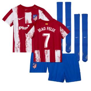 2021-2022 Atletico Madrid Little Boys Home Shirt (JOAO FELIX 7)