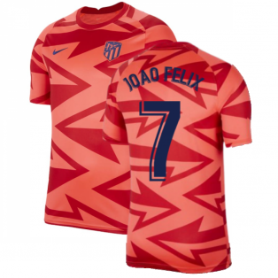 2021-2022 Atletico Madrid Pre-Match Training Shirt (Red) - Kids (JOAO FELIX 7)