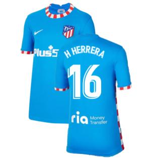 2021-2022 Atletico Madrid Third Shirt (Kids) (H HERRERA 16)