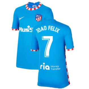 2021-2022 Atletico Madrid Third Shirt (Kids) (JOAO FELIX 7)