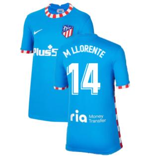 2021-2022 Atletico Madrid Third Shirt (Kids) (M LLORENTE 14)