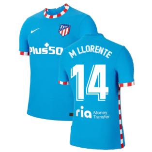 2021-2022 Atletico Madrid Vapor 3rd Shirt (M LLORENTE 14)