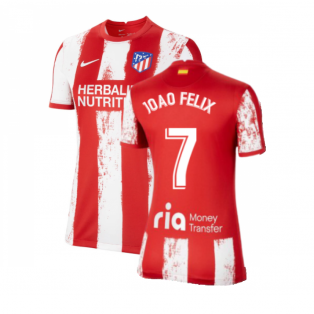 2021-2022 Atletico Madrid Womens Home Shirt (JOAO FELIX 7)