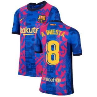 2021-2022 Barcelona 3rd Shirt (Kids) (A INIESTA 8)