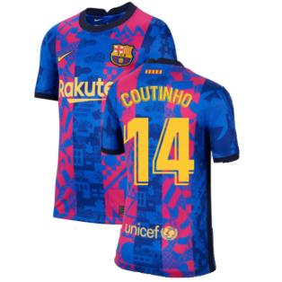 2021-2022 Barcelona 3rd Shirt (Kids) (COUTINHO 14)