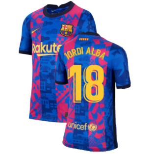 2021-2022 Barcelona 3rd Shirt (Kids) (JORDI ALBA 18)