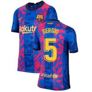 2021-2022 Barcelona 3rd Shirt (Kids) (SERGIO 5)